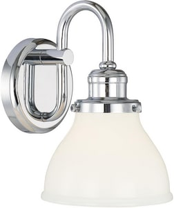 Capital Lighting Fixture Baxter 100W 1-Light Vanity Fixture in Polished Chrome C8301CH128