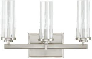 Capital Lighting Fixture Emery 60W 3-Light Candelabra E-12 Base Incandescent Vanity in Brushed Nickel C8043BN150