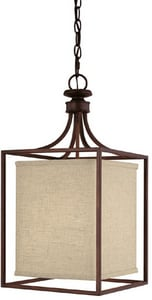 Capital Lighting Fixture Midtown 21-1/4 in. 40 W 2-Light Candelabra Pendant in Burnished Bronze C9046BB462