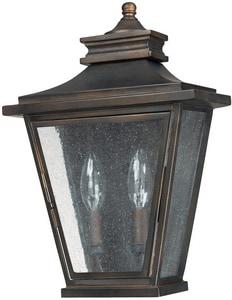 Capital Lighting Fixture Gentry 14 in. 40W 2-Light Outdoor Wall Sconce in Old Bronze C9460OB