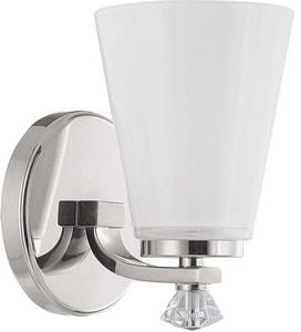 Capital Lighting Fixture Alisa 75W 1-Light Medium E-26 Incandescent Wall Sconce in Polished Nickel C8021PN127