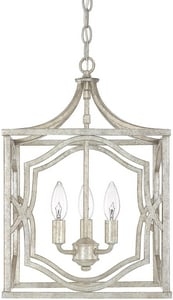 Capital Lighting Fixture Blakely 3-Light Foyer in Antique Silver C9481AS