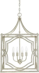 Capital Lighting Fixture Blakely 4-Light Foyer in Antique Silver C9482AS