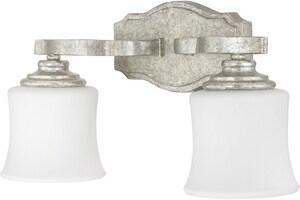 Capital Lighting Fixture Blair 100W 2-Light Medium E-26 Base Incandescent Vanity in Antique Silver C8552AS299