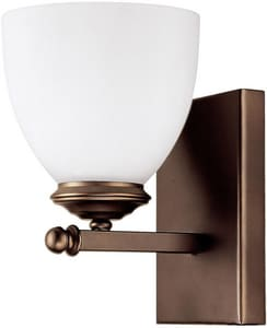 Capital Lighting Fixture Chapman 100W 1-Light Medium E-26 Incandescent Wall Sconce in Burnished Bronze C8401BB202