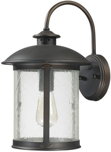 Capital Lighting Fixture Dylan 9-1/2 in. 100W 1-Light Medium E-26 Incandescent Wall Lantern in Old Bronze C9562OB