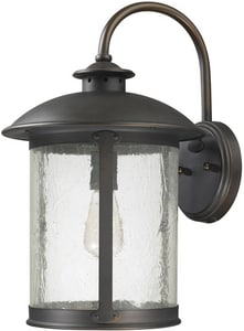 Capital Lighting Fixture Dylan 11-1/2 in. 100W 1-Light Medium E-26 Incandescent Wall Lantern in Old Bronze C9563OB
