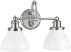 Capital Lighting Fixture Baxter 100W 2-Light Medium E-26 Base Incandescent Vanity C8302128