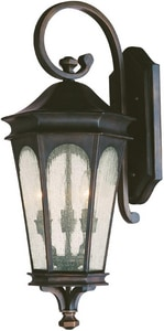 Capital Lighting Fixture Inman Park 11 in. 60W 3-Light Candelabra E-12 Wall Lantern in Old Bronze C9382OB