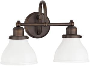Capital Lighting Fixture Baxter 2-Light Vanity Fixture in Burnished Bronze C8302BB128