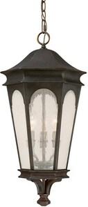Capital Lighting Fixture Inman Park 40W 3-Light Candelabra E-12 Incandescent Hanging Lantern in Old Bronze C9386OB