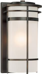 Capital Lighting Fixture Lakeshore 100W 1-Light Wall Lantern in Old Bronze C9882OB