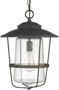 Capital Lighting Fixture Creekside 100W 1-Light Medium E-26 Incandescent Hanging Lantern in Old Bronze C9604