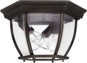 Capital Lighting Fixture Outdoor 3-Light Outdoor Ceiling Fixture in Burnished Bronze C9802OB