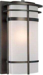 Capital Lighting Fixture Lakeshore 100W 1-Light Medium E-26 Incandescent Outdoor Wall Lantern in Old Bronze C9883OB