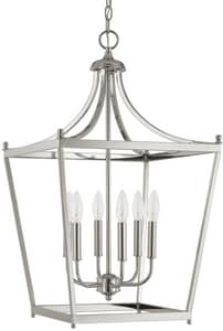Capital Lighting Fixture Stanton 6-Light Foyer Fixture in Polished Nickel C9552PN