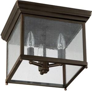 Capital Lighting Fixture Outdoor 8-1/2 in. 3-Light Outdoor Ceiling Fixture in Old Bronze C9546OB