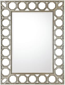 Capital Lighting Fixture 37 x 49 in. Rectangular Framed Mirror in Sliver with Gold CM352471