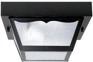 Capital Lighting Fixture Outdoor 5 in. 1-Light Carport Fixture in Black C9937BK