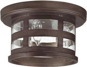 Capital Lighting Fixture Mission Hills 6 in. 3-Light Outdoor Ceiling Fixture in Burnished Bronze C9956BB