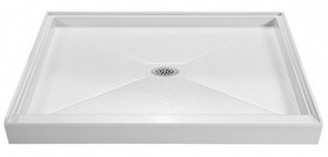 MTI Whirlpools Designer 48 in. Rectangle Shower Base in White MTISB4842WH