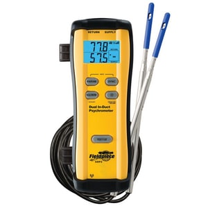 Fieldpiece Instruments Dual In-Duct Wireless Psychrometer in Yellow FSDP2
