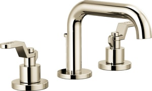 Brizo Litze™ Two Handle Widespread Bathroom Sink Faucet in Polished Nickel Handles Sold Separately D65337LFPNLHPECO