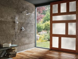 Brizo Litze™ Thermostatic Valve with Diverter Trim Lever Handle Kit in Polished Chrome DHL7532