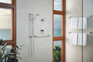 Brizo Litze™ 6-1/2 in. Pressure Balance Valve Trim with Single Lever Handle in Polished Chrome DT60P035