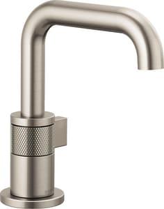 Brizo Litze Single Handle Monoblock Bathroom Sink Faucet in Brilliance Luxe Nickel D65035LFNKECO