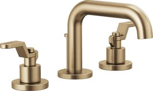 Brizo Litze™ Two Handle Widespread Bathroom Sink Faucet in Brilliance Luxe Gold Handles Sold Separately D65337LFGLLHPECO