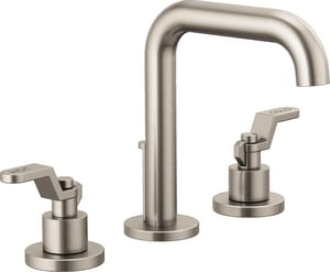 Brizo Litze™ Two Handle Widespread Bathroom Sink Faucet in Brilliance Luxe Nickel Handles Sold Separately D65335LFNKLHPECO