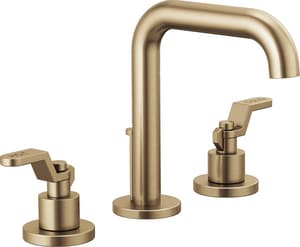 Brizo Litze™ Two Handle Widespread Bathroom Sink Faucet in Brilliance Luxe Gold Handles Sold Separately D65335LFGLLHPECO