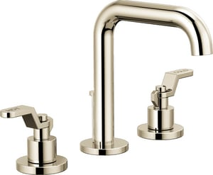 Brizo Litze™ Two Handle Widespread Bathroom Sink Faucet in Polished Nickel Handles Sold Separately D65335LFPNLHPECO