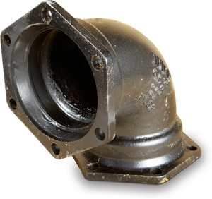 Tyler Union 6 in. Mechanical Joint Ductile Iron C153 Short Body 90 Degree Bend DMJEL9LAU