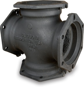 4 x 4 x 4 x 4 in. Mechanical Joint Ductile Iron C153 Short Body Cross (Less Accessories) MJCRLA