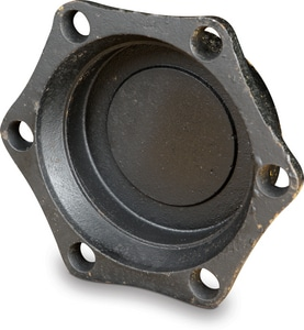 4 in. Mechanical Joint Zinc Plated Ductile Iron C153 Short Body Solid Cap MJSCAPLAPZN