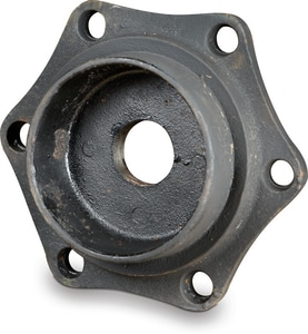 Custom Fab 4 x 2 in. Mechanical Joint Domestic Ductile Iron C153 Short Body Tapped Plug with Protecto P-401 Lined DMJTPP4K