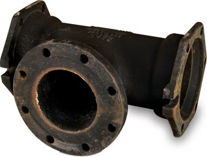 12 x 12 x 10 in. Mechanical Joint x Flanged Ductile Iron C153 Short Body  Reducing Tee (Less Accessories) MJFTLA1210