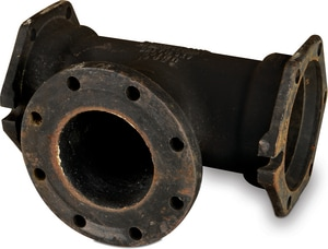 10 x 10 x 4 in. Mechanical Joint x Flanged Ductile Iron C153 Short Body  Reducing Tee (Less Accessories) MJFTLA10P