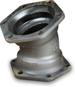 Tyler Union 14 in. Mechanical Joint Ductile Iron C153 Short Body 22-1/2 Degree Bend DMJEL2LA14
