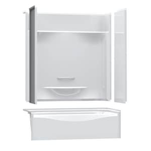 Aker Plastics 59-7/8 x 31 in. Tub & Shower Unit with Left Drain in White A142006L000002