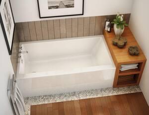 Maax US Rubix 65-3/4 x 32 in. Soaker Alcove Bathtub Right Drain in White M105735R000001