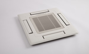 Mitsubishi Electronics USA 25-5/8 x 25-5/8 in. Residential 4-way Return Grille in White MSLP15AAUW