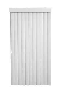 Lotus & Windoware 110 x 84 in. 3-1/2 in. PVC Vertical Blind in White LVSSCWH