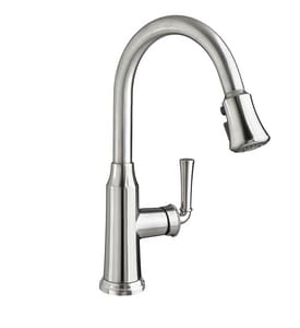 American Standard Portsmouth® 1.5 gpm 1-Hole Pull-Down Kitchen Sink Faucet with Single Lever Handle and Swivel Spout in Polished Chrome A4285300F15002