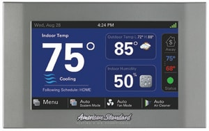 American Standard HVAC Nexia™ AccuLink™ BAYCOVR800A Wall Cover Plate 5H/2C-Stage Programmable Thermostat AACONT824AS52DA