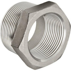 1 x 3/8 in. Threaded 150# 304 Stainless Steel Global Bushing IS4BSTBSP114GC