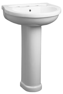 Mirabelle® Provincetown™ 22-1/16 x 19-1/8 in. Pedestal Lavatory with 8 in. Center MIRPR358