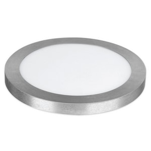 Feit Electric 15W Ceiling Mount and Flush Mount LED Flat Panel Ceiling Fixture in Nickel F74045G2